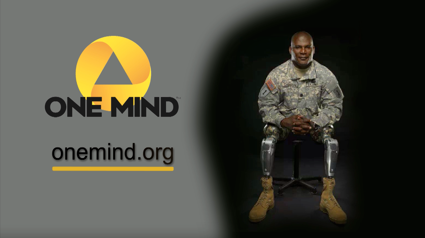 One Mind PSA – Col. (Ret.) Gregory Gadson